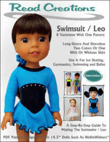 Swimsuit/Leo pattern for 14.5-inch dolls