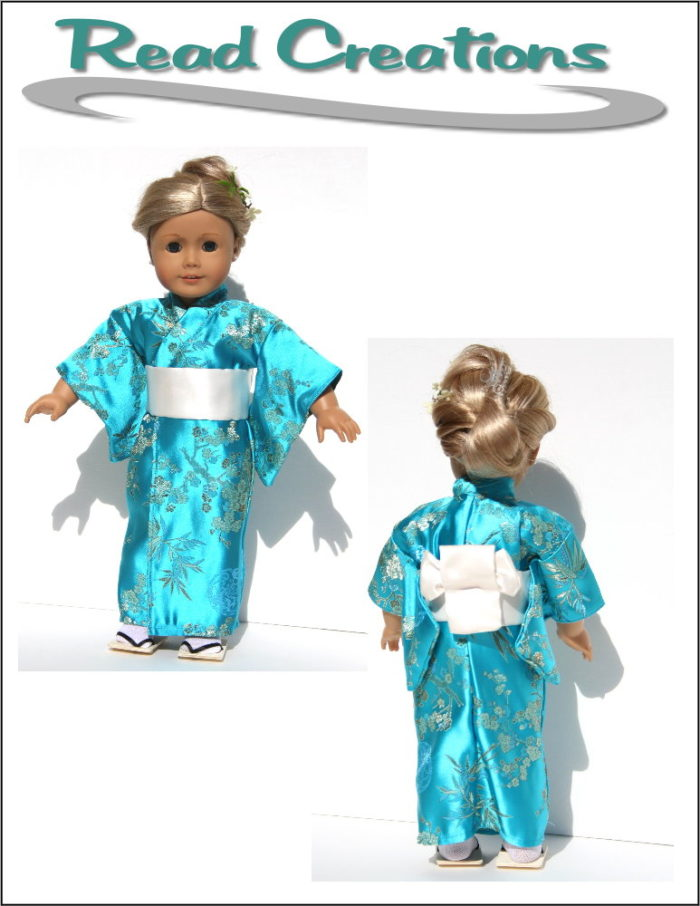 Kimono/Bathrobe pattern for 18-inch dolls