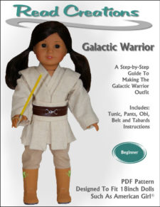 Galactic Warrior pattern for 18-inch dolls