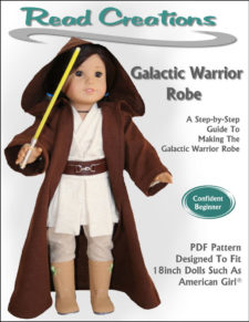 Galactic Warrior Robe pattern for 18-inch dolls