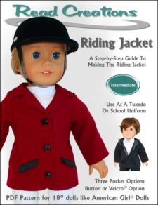 Riding jacket pattern for 18-inch dolls