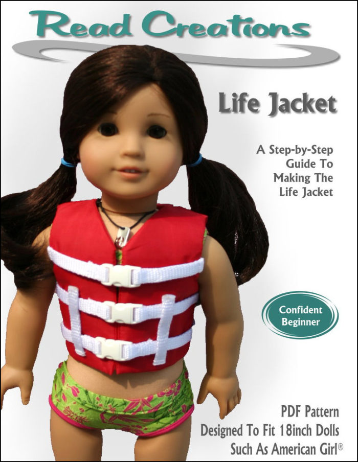 Lifejacket pattern for 18-inch dolls