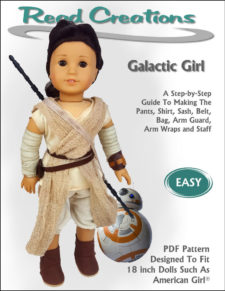 Galactic Girl pattern for 18-inch dolls