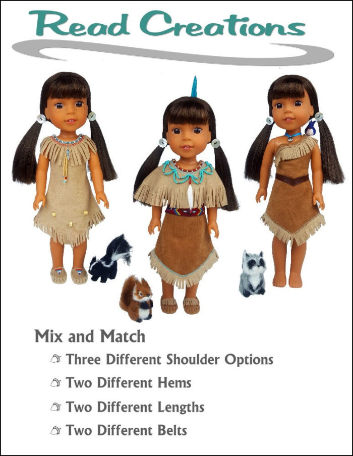 Native American Dress pattern for 14.5-inch dolls