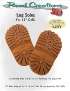 Lug Soles for 18″ Dolls