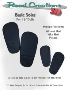 Basic Soles for 16″ Dolls
