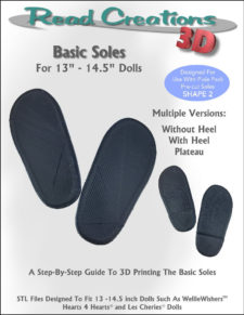 Basic Soles for 13″ – 14.5″ Dolls
