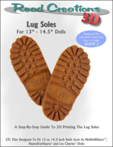 Lug Soles for 13″ – 14.5″ Dolls