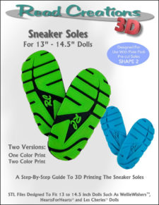 Sneaker Soles for 13″ – 14.5″ Dolls