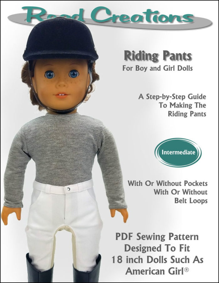 "Riding Pant Pattern for 18"" dolls such as American Girl Doll"