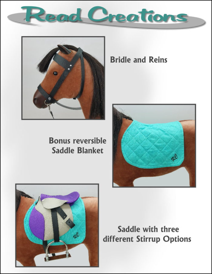 "English Saddle for 18"" doll sized horses"